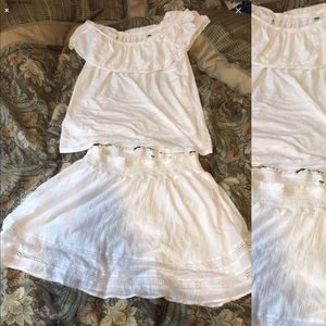 Off the shoulder blouse and matching skirt